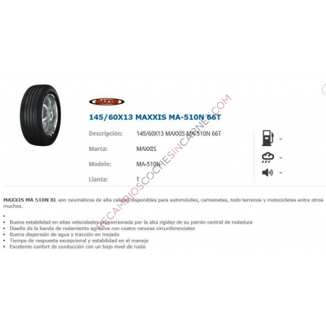 NEUMATICO 145/60X13MAXXIS MA-510N 66T
