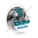 KIT DE 2 LAMPARAS H4 PHILLIPS X-TREMEVISION